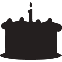 Торт со свечой