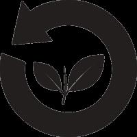 Стрелка по кругу с растением