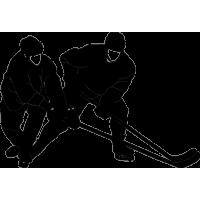 Хоккеисты борются за шайбу