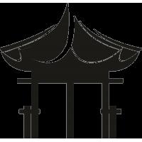 Веранда древнего китайского домика