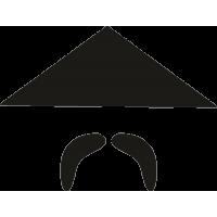 Китаец с треугольной бамбуковой шляпой и усами