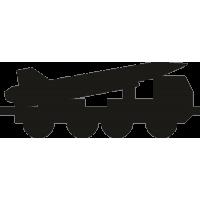Военная машина с ракетой