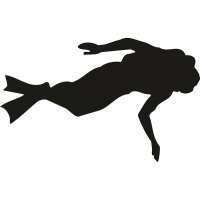 Плавающий с аквалангом спортсмен