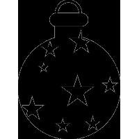 Игрушка для елки с рисунками звезд