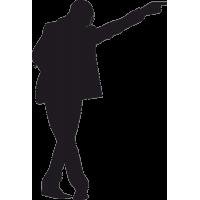 Майкл Джексон со скрещенными ногами