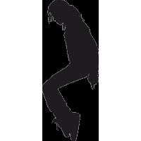 Танцующий Майкл Джексон с согнутыми коленями