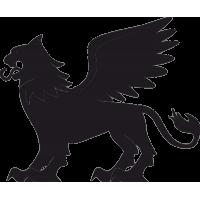 Татуировка Лев с раскрытыми Крыльями 2