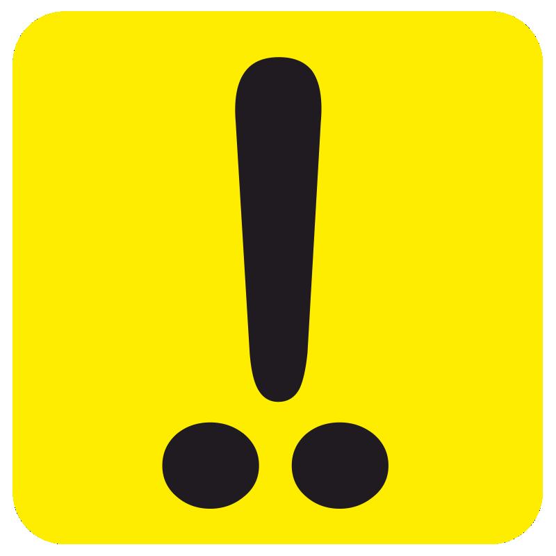 наклейка с восклицательным знаком размер