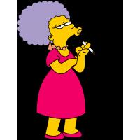 Курящая женщина из мультфильма Симпсоны