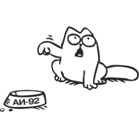Кот Саймона лючок бензобака слева