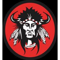 Портрет индейского вождя в круге 2