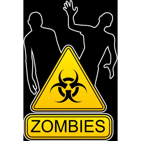 Знак осторожно зомби