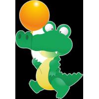 Крокодил с шариком