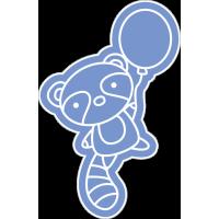 Голубой енот с воздушным шариком