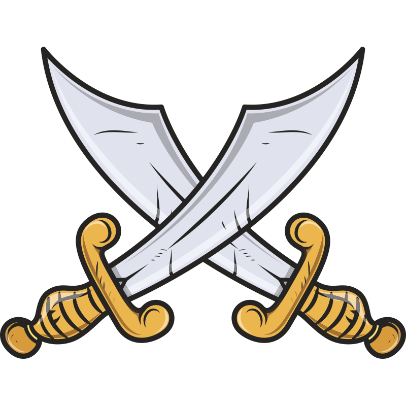 Рисунок скрещенные мечи