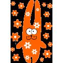 Кролик с цветками
