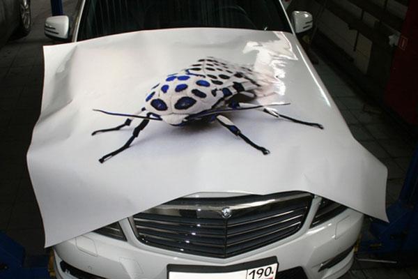 Наклейка на машину своими руками фото