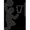 Силуэт человека, играющего в баскетбол