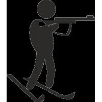 Силуэт стреляющего биатлониста