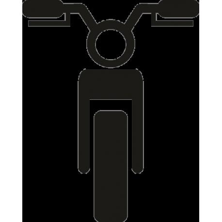 Вид мотоцикла спереди