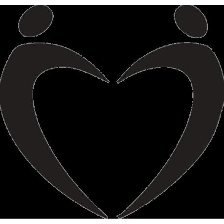 Силуэт людей в виде сердца