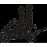 Два человека на скутере