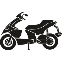 Припаркованный скутер
