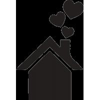 Дом с которого вылетают сердечка
