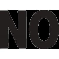 Надпись NO