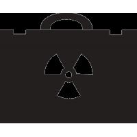 Дипломат с знаком радиационной опасности