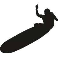 Серфер на лонгборде