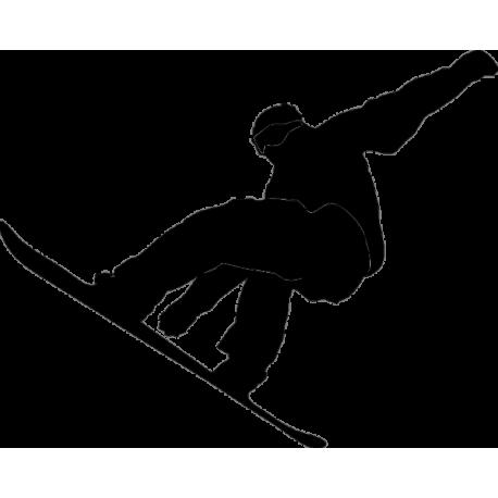 Скатывающийся сноубордист