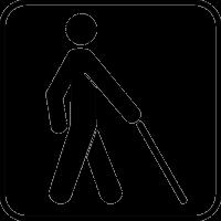 Мужчина с тростью в руке