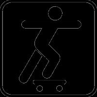 Парень катается на скейте