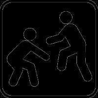 Борющиеся спортсмены