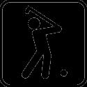 Человек играющий в гольф