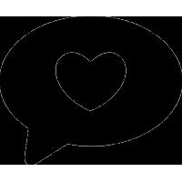 Шарик с рисунком сердца