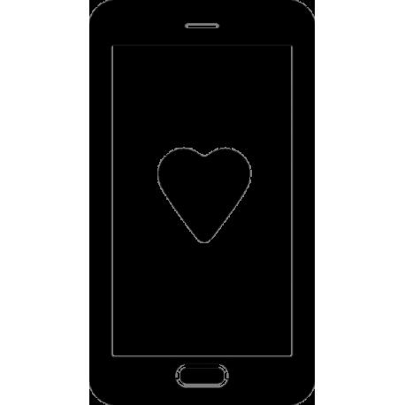 Рисунок сердца в телефоне