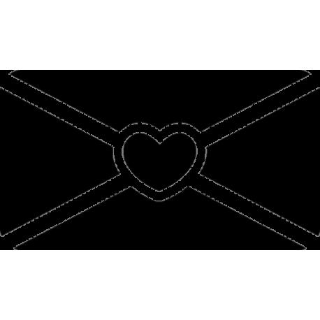 Конверт с рисунком сердца