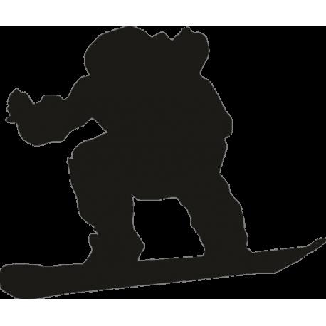 Парень на сноуборде во время движения