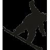 Человек скатывающийся со склона на сноуборде
