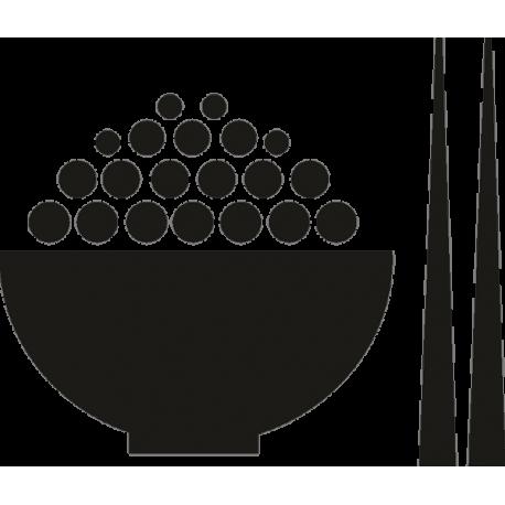 Тарелка и китайские палочки