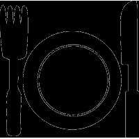 Тарелка и столовый набор