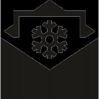 Конверт с рисунком снежинки