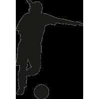 Футболист ударяющий по мячу 2