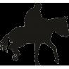 Спортсмен скачущий на лошади 2