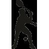 Теннисист отбивающий мяч