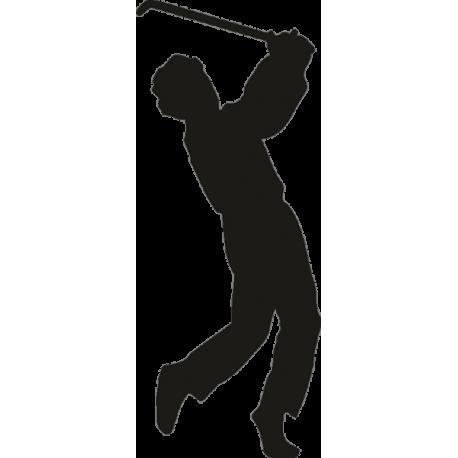 Спортсмен с клюшкой в руках