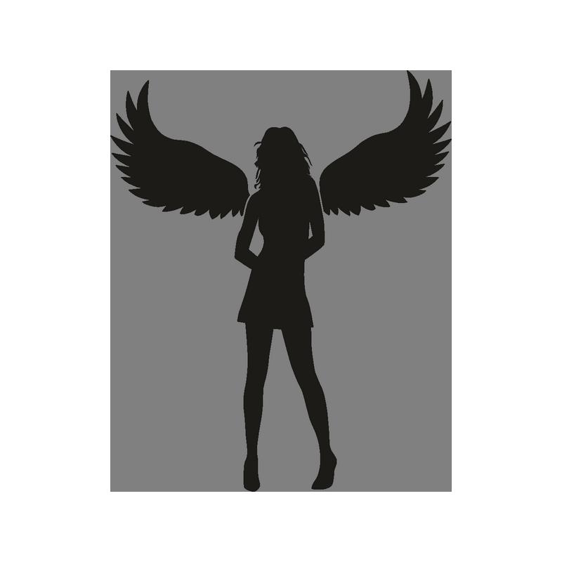 Силуэт девушки с крыльями картинки