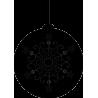 Игрушка для елки с рисунком снежинки